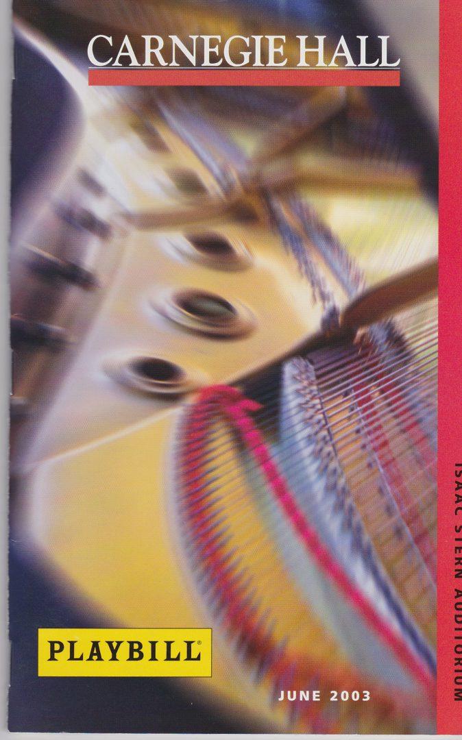 2003-06-18 Cover1 CarnegieHall